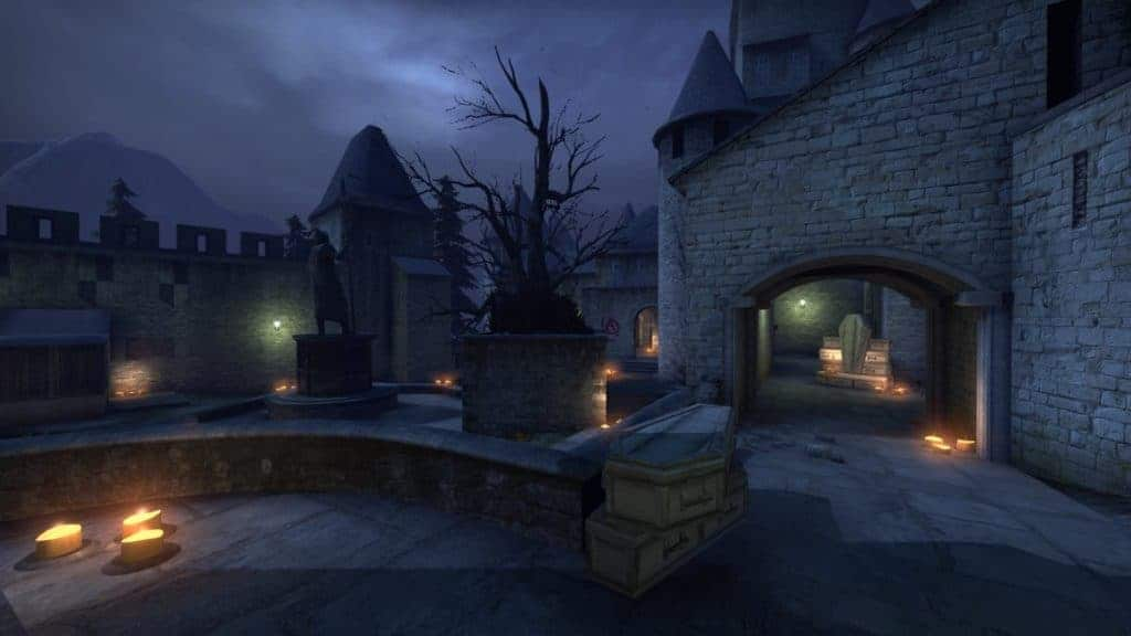 Cobblestone receives map layout changes in CS:GO Halloween update 1