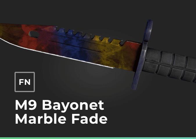 m9 bayonet marble fade factory new