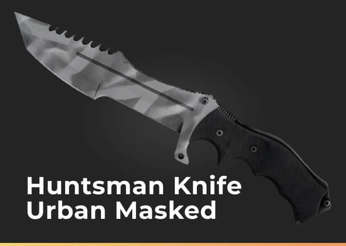 huntsman knife urban masked