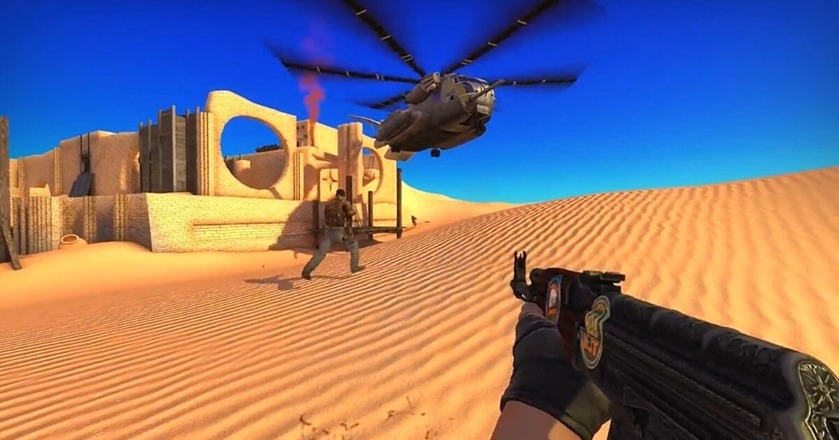 CSGO Map With Helicopter
