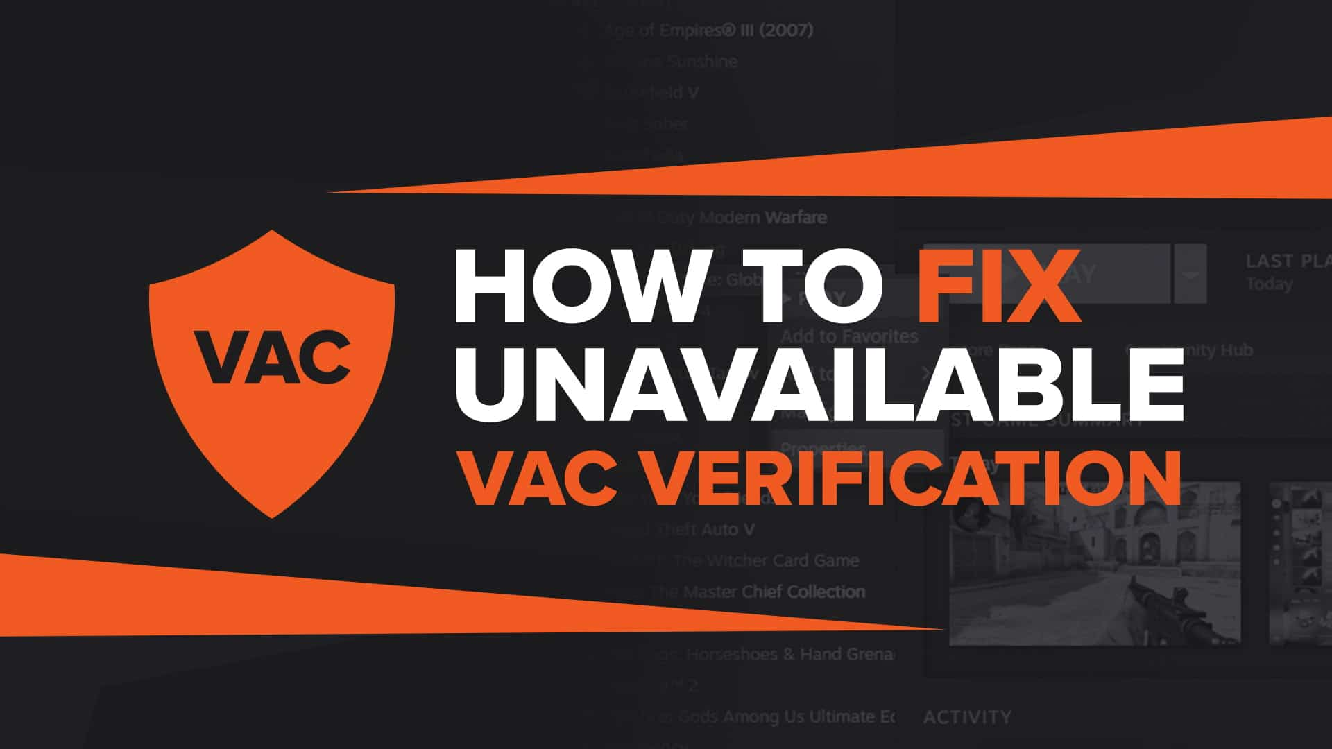 Fix VAC was unable to verify game session