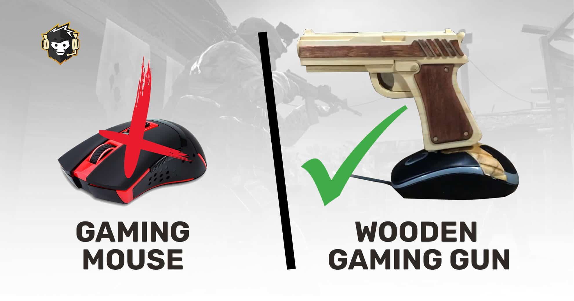 User Replaces Mouse With Custom Wooden Gaming Gun To Play CSGO